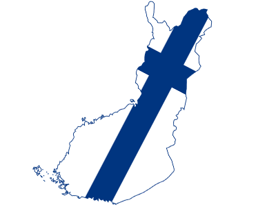 finland-flag-map